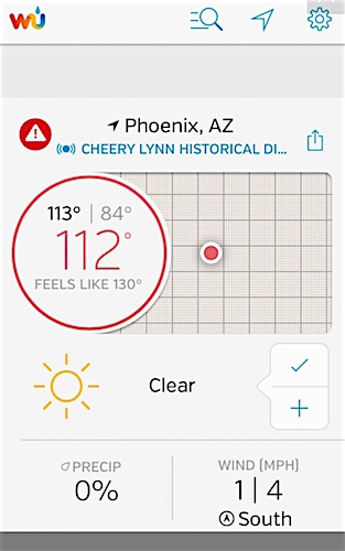 130 degrees outside in phoenix