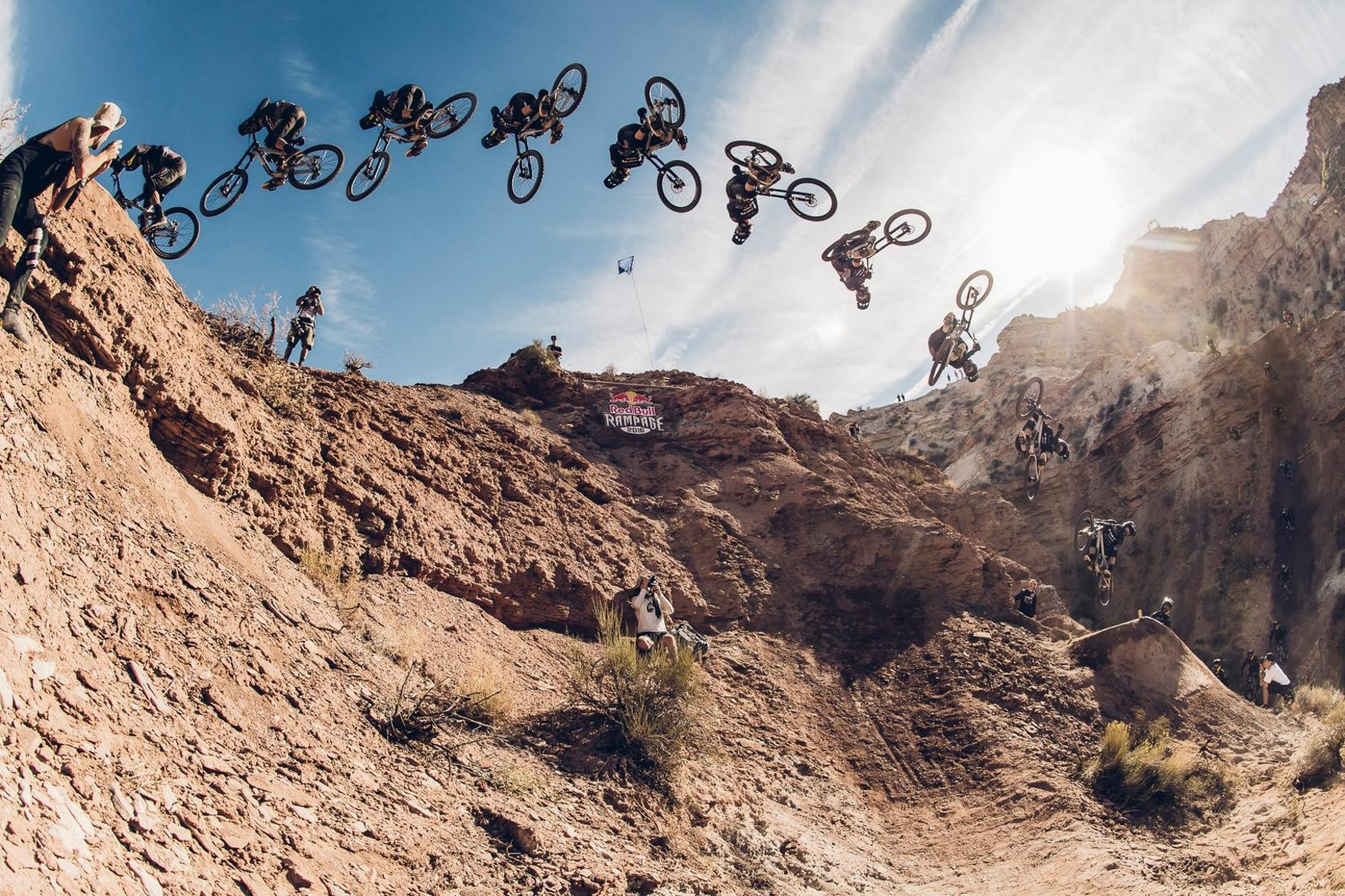 Brandon Semenuk at RedBull Rampage in Virgin, Utah